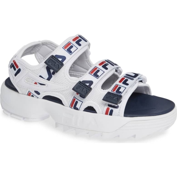 5e304f578c8 Fila Shoes - FILA  Disruptor  Logo Taping Platform Sandals